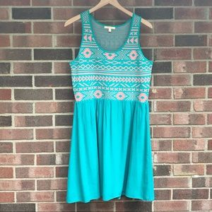 Cute turquoise and pink dress